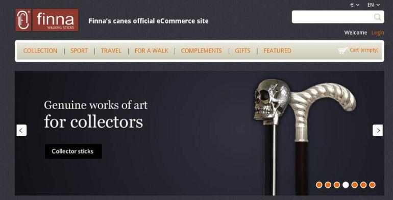 La portada en anglès de la pàgina web. FinnaSL