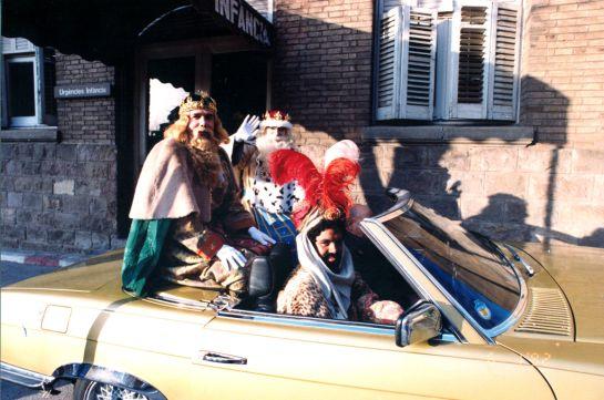 Repariment de regals a l'Hospital de Sant Pau el dia de Reis de 1992