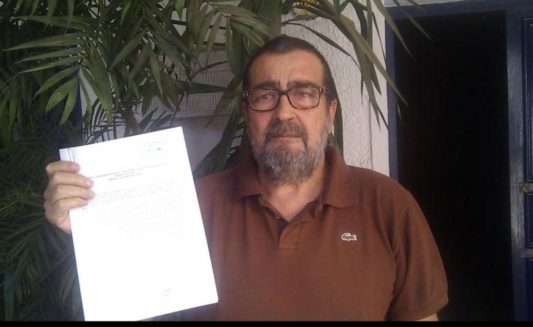 Alfonso Crespo denuncia que el sistema sanitario se niega a darle el tratamiento que necesita para curarse