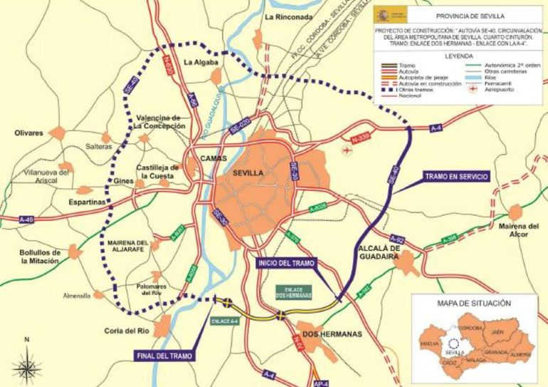 Fomento adjudica un nuevo tramo de la SE-40 entre Alcalá y Dos ... - Cadena Ser