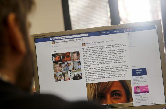 Mensaje de Sonia Castedo a través de su Facebook en el que presentó su dimisión.