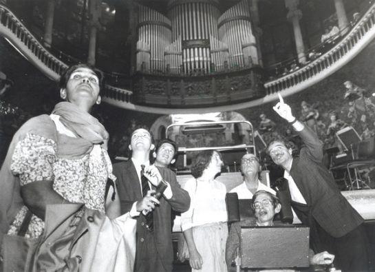 Stephen Hawking visita el Palau de la Música
