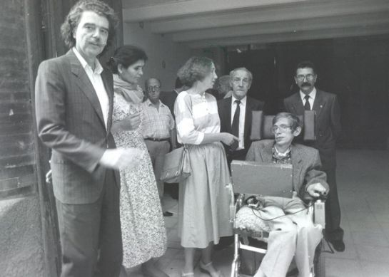 Lluís Permanyer i la seva esposa van acompanyar Stephen Hawking i la seva dona per tota la ciutat
