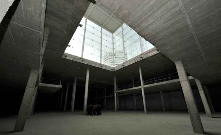 Interior del edificio del Cubo en la esquina del Puerto de Málaga