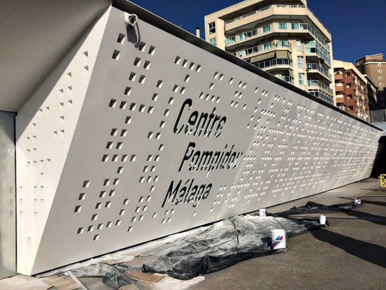 Imagen del Centro Pompidou difundida por twitter por el presidente del centro galo Alain Seban