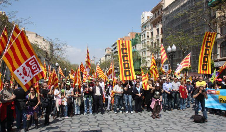 Resultat d'imatges de manifestacions ccoo