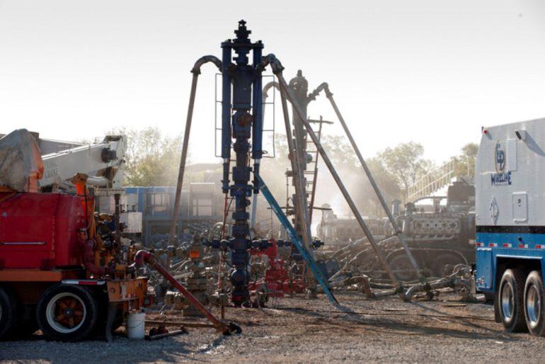 Un pozo de fracking en Estados Unidos