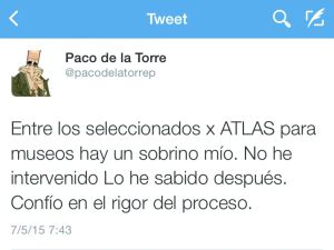 Tweet del Francisco de la Torre