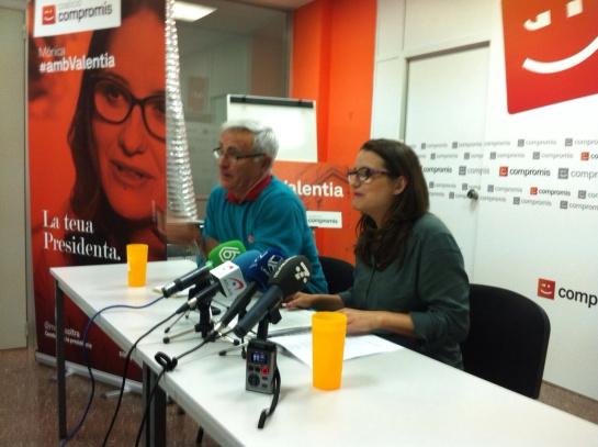 Los denunciantes de #RitaLeaks, Joan Ribó y Mónica Oltra