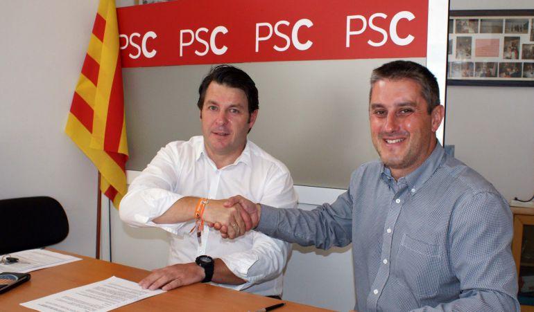 PSC y Ciudadanos de Calafell encajando las manos