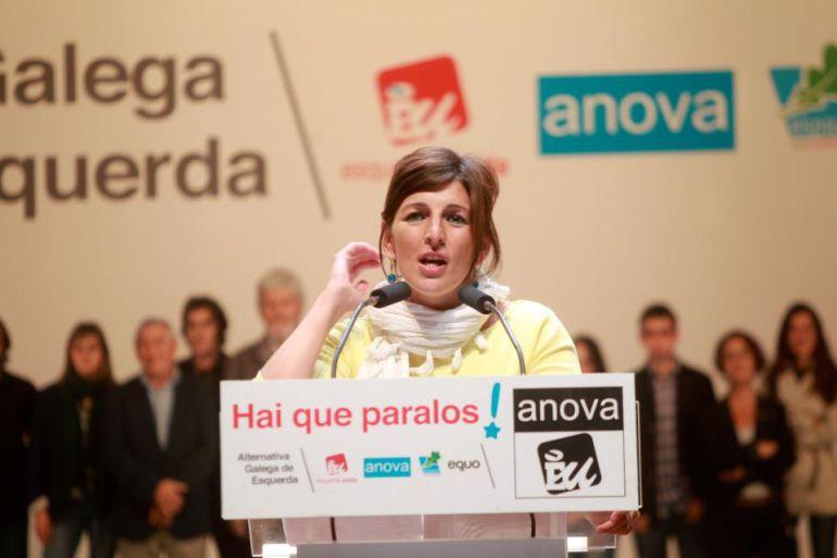 """Yolanda Díaz: """"Le pido al BNG que se ponga a un lado"""""""