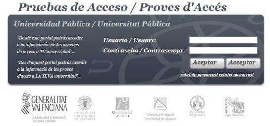 Portal de información de las calificaciones de Selectividad 2015