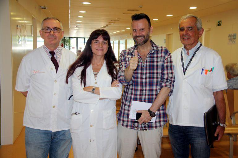 El equipo médico y el paciente