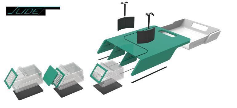 Maqueta de la tabla de cocina Slides