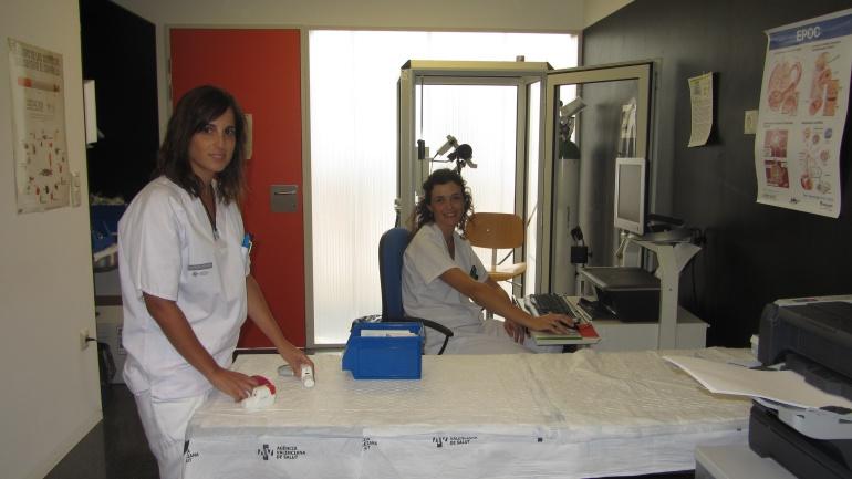 Empleadas del departamento de Enfermería del Hospital de Elche