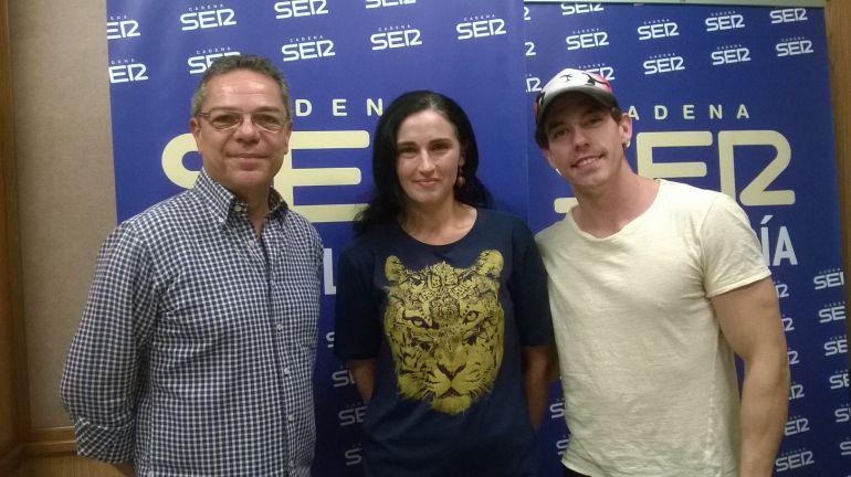 Adrián Lastra, Salomón Hachuel y Mónica Trujillano