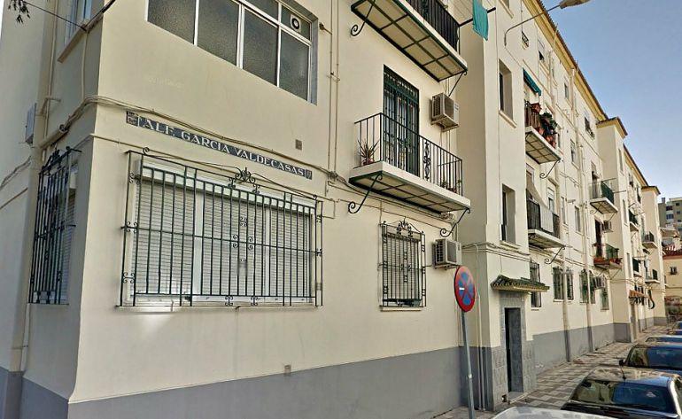 Calle Alférez García Valdecasas, en la barriada Haza Cuevas de Málaga