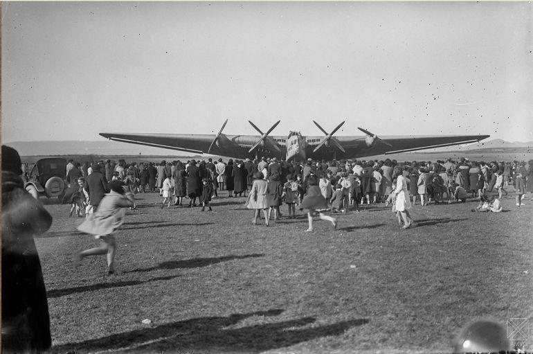 La llegada del Junkers G-38 a Vitoria