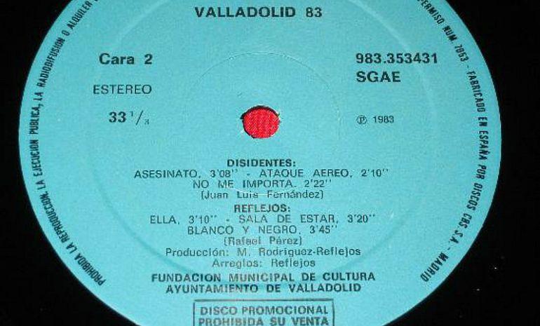 Contenido del disco 'Valladolid 83', editado por el Ayuntamiento de Valladolid