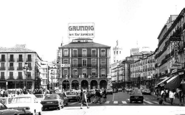 Aspecto de la Plaza Mayor en 1983