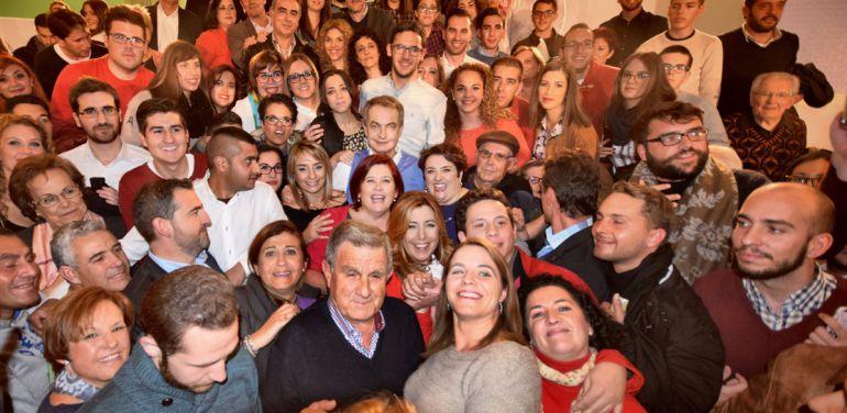 Mitin del PSOE en Granada con José Luis Rodríguez Zapatero y Susana Díaz
