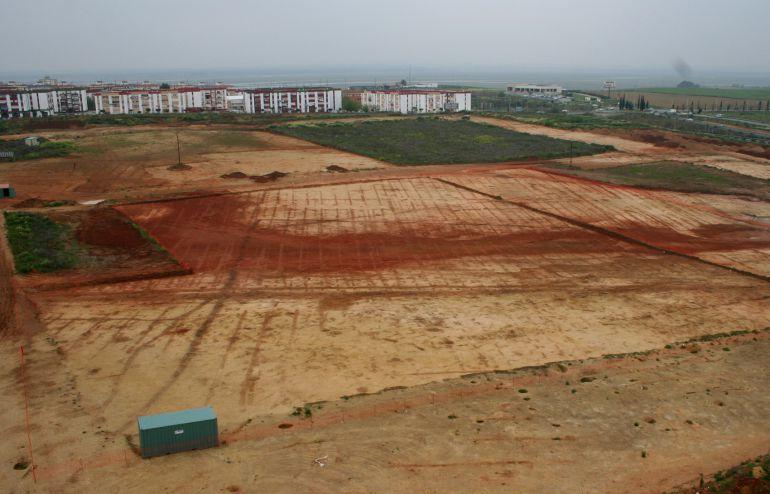 Vista de los terrenos del Seminario antes de las excavaciones