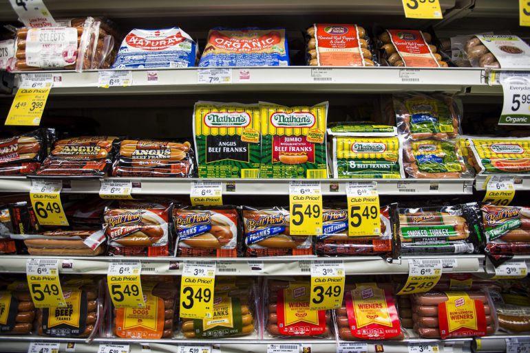 Baldas de un supermercado