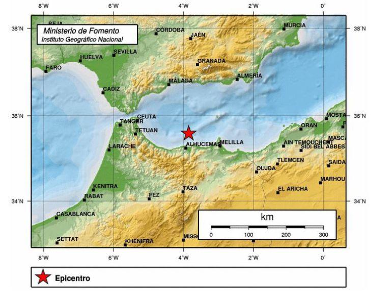 Mapa del terremoto