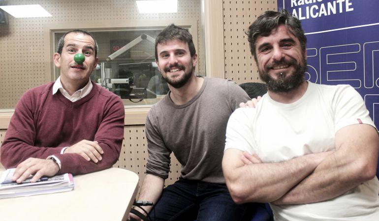 Miguel Manzano (c), David Consuegra (d) y Carlos Arcaya (i)