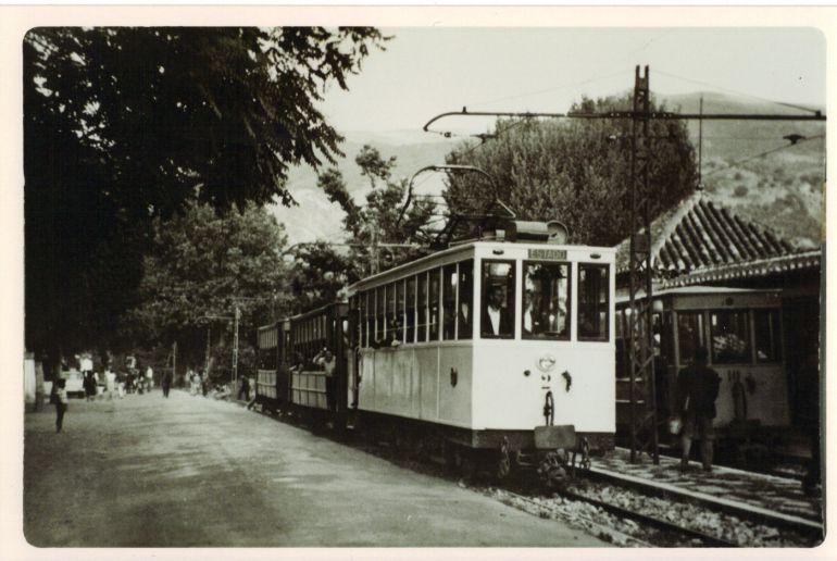 Estación del viejo Tranvía de la Sierra en Cenes de la Vega(Granada)