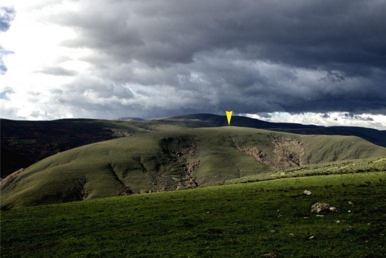 Imagen del paraje de A Serra da Casiña