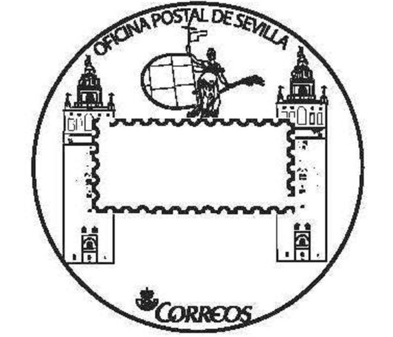 Sevilla sello tur stico filatelia correos sevilla cuenta for Oficina central de correos madrid