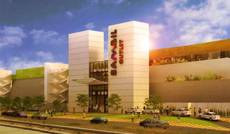 Así quedará la fachada del nuevo centro comercial cuando sea inaugurado, según prevén los responsables
