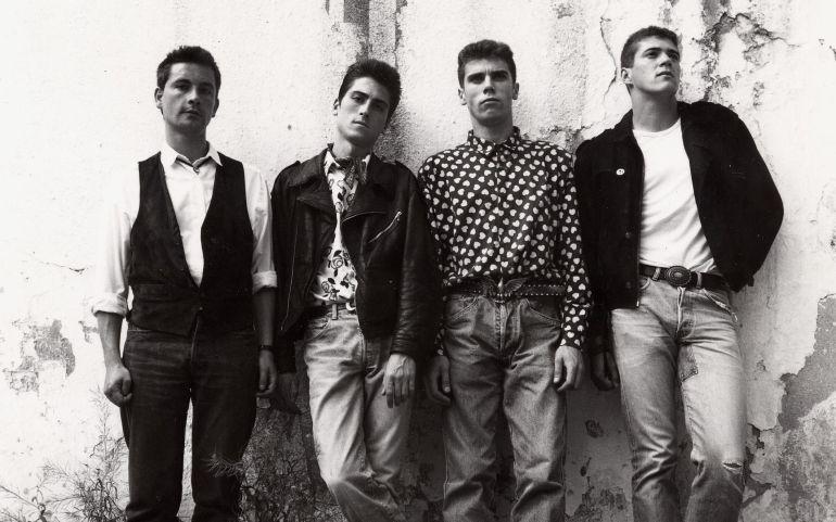 """Integrantes de """"Los automáticos"""" en 1985"""
