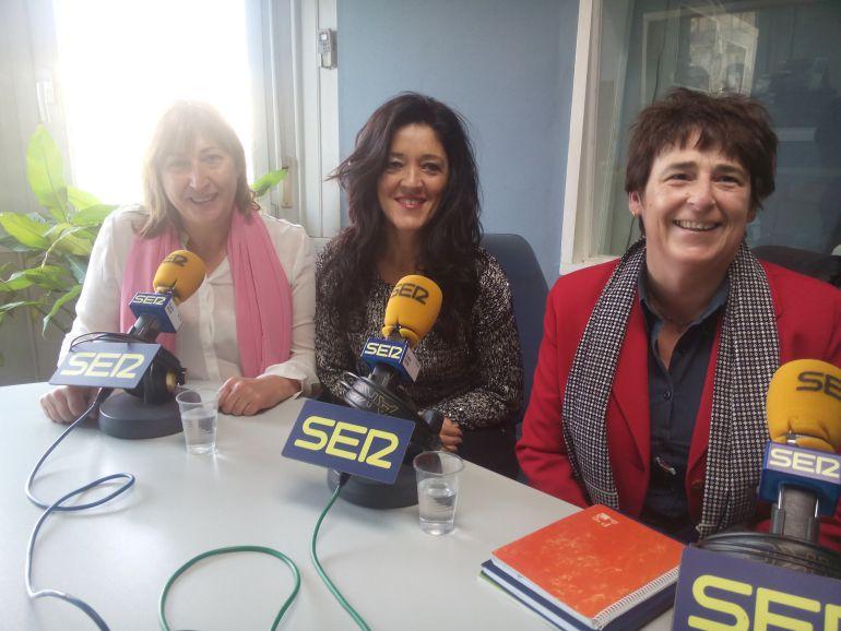 Toñi García, Marian Irastorza y Maite Ocerin de la empresa Hazlan