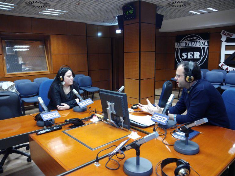 La escritora Sandra Andrés visitó esta semana Hoy por Hoy Zaragoza
