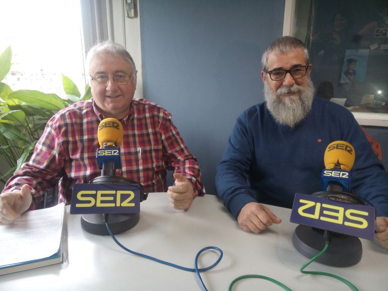José Mari Irastorza y Gabriel Narzabal de la Cofradía Anaka