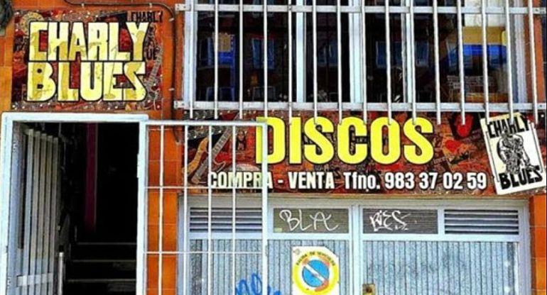 Fachada de la tienda Charly Blues Discos