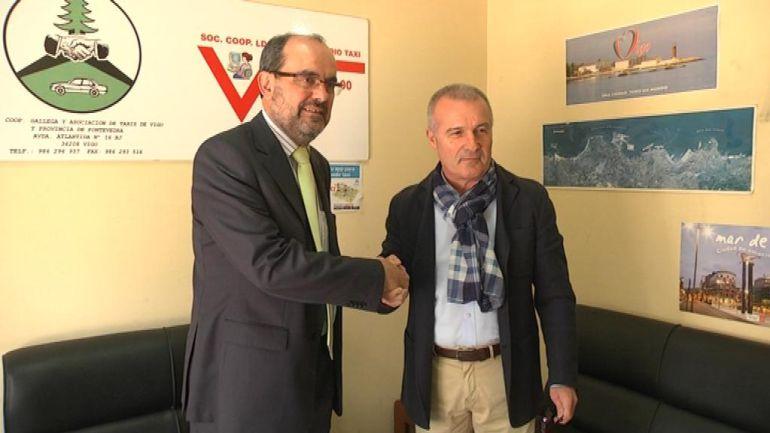César Joral y Manuel Chorén en el acuerdo para el uso de autogas