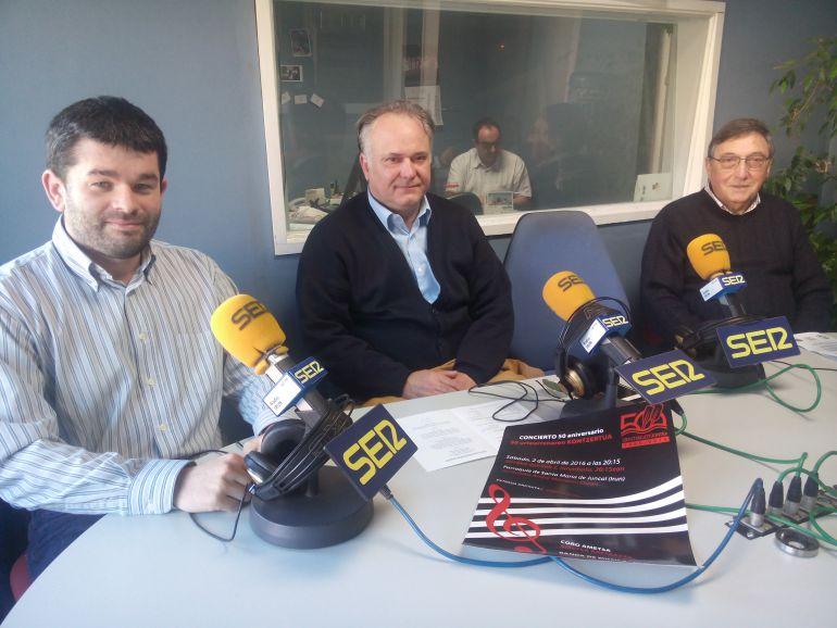 Garikoitz González, Fernando Etxepare e Ignacio Galarza.