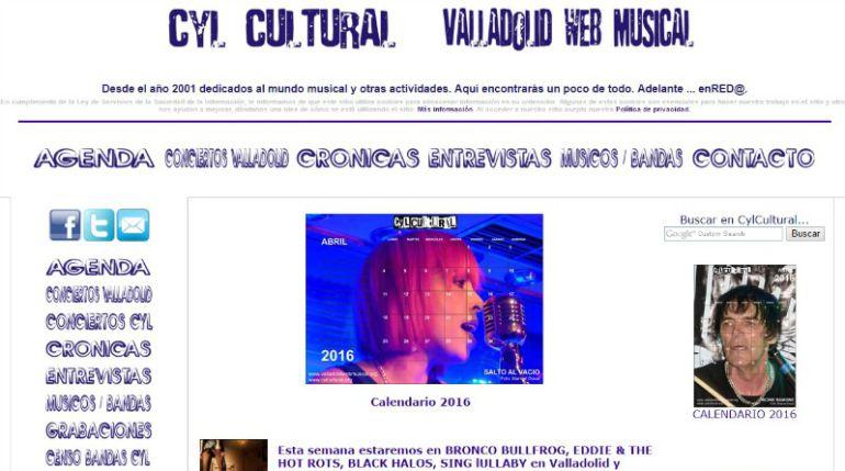Captura de la web valladolidwebcultural.org