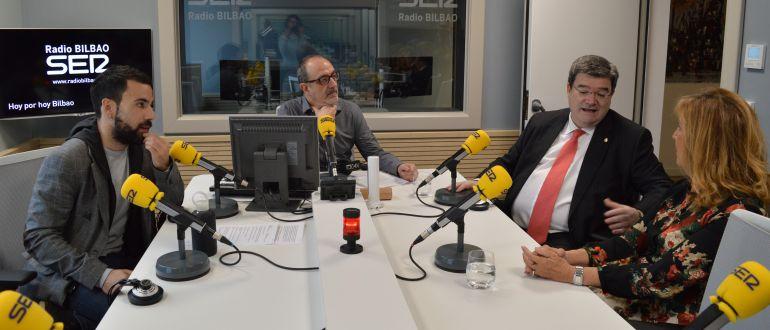 Jon Egaña, Juan Carlos Otaola, Juan Mari Aburto y María Jesús Cava