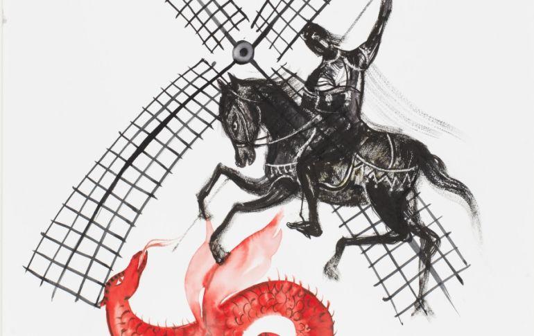 Acuarela de Lina Vila para el cartel de los actos de San Jorge 2016