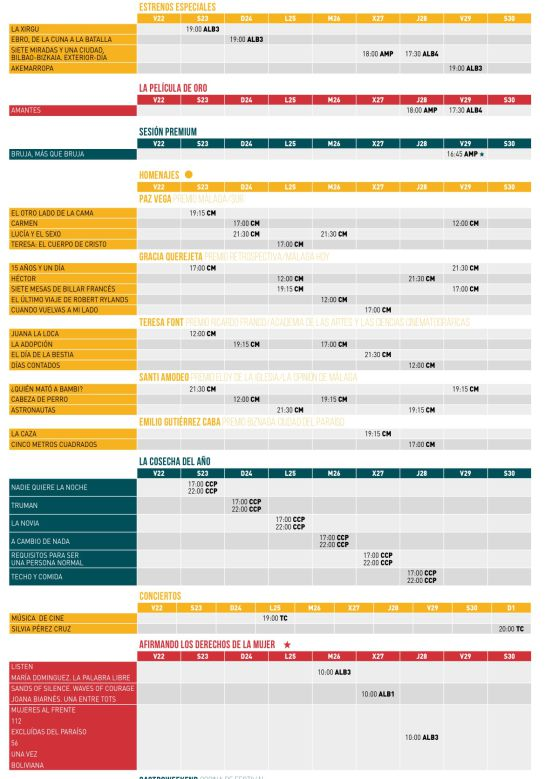 Festival de Málaga: Agenda del día: Desde la inauguración hasta la clausura, más de 200 eventos