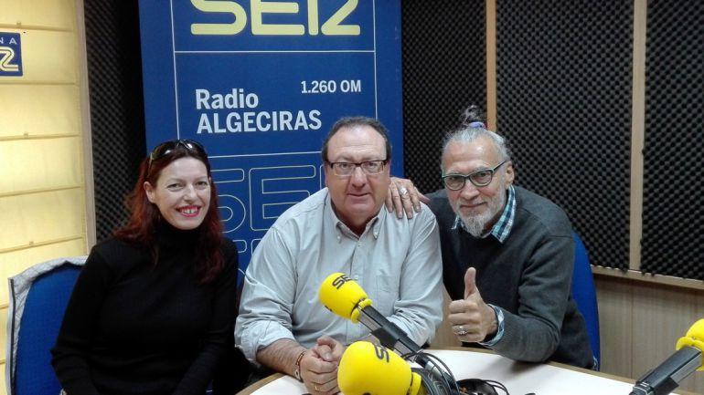 """Junto a Luis Ramón G. del Polmar, autode la novela, """"El mal amor, historia de un alegato""""."""