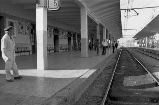 1986 En los andenes de la antigua estación de Córdoba