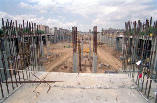1993 - Obras de cimentación de la nueva estación de Córdoba
