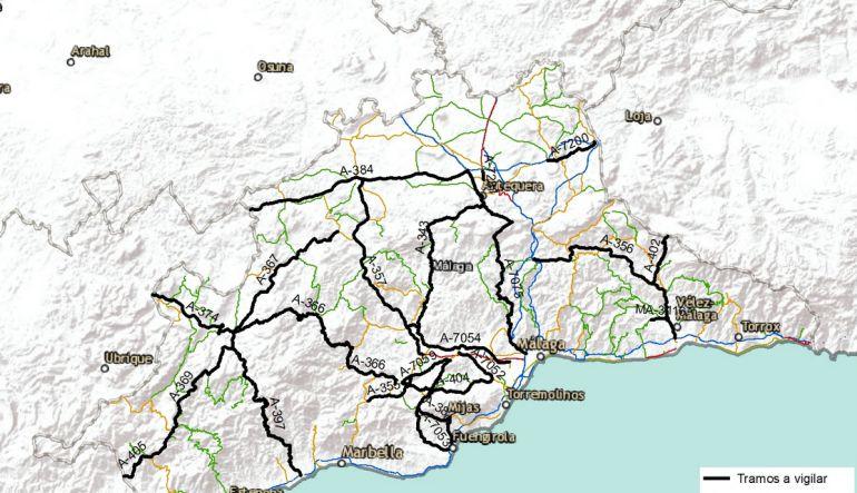 Tr fico m s de 50 radares controlan hasta treinta puntos - Direccion de trafico en malaga ...