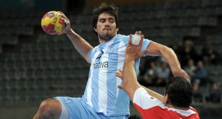 Sebastián Simonet con la selección argentina