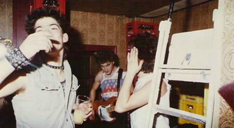 Los integrantes de 'Disidentes', en una actuación en el bar Landó